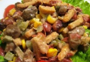 Салат с фасолью отварной - фото шаг 8