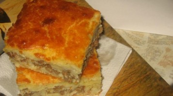Пирог с фаршем на кефире - фото шаг 9
