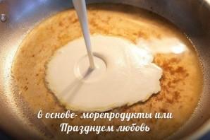 Паста феттучини с креветками - фото шаг 4
