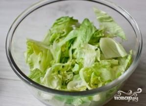 Салат из помидоров с фетой и базиликовой заправкой - фото шаг 2