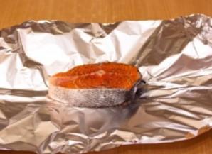 Семга под икорным соусом - фото шаг 1