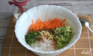"""Салат """"Фунчоза с овощами"""" - фото шаг 6"""