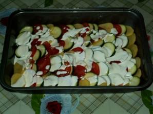 Кабачки с картошкой и помидорами - фото шаг 4