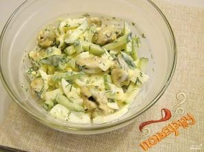 Салат к белому вину - фото шаг 4