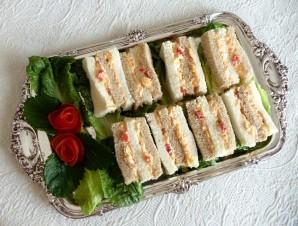Бутерброды на свадебный стол - фото шаг 3