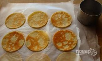 Закусочный мини-крепвиль с творожным кремом - фото шаг 3