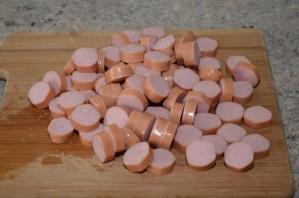 Макароны с сосиской в духовке - фото шаг 4