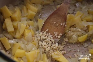 Суп из брокколи с крутонами - фото шаг 4