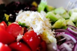 Греческий салат - фото шаг 11