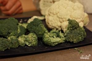 Индейка с брокколи и цветной капустой - фото шаг 2