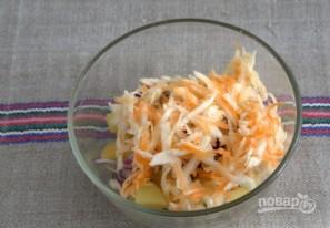 Картофельный салат с квашеной капустой - фото шаг 4