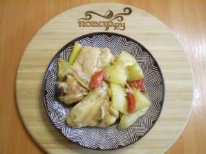 Курица с картошкой и овощами в духовке - фото шаг 7
