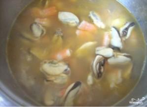 Суп из морепродуктов со сливками - фото шаг 4