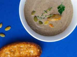 Грибной крем-суп из замороженных грибов - фото шаг 7