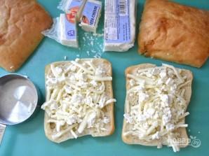 Бутерброды на сковороде с сыром и шпинатом - фото шаг 5