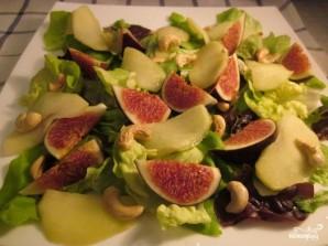 Салат с инжиром и козьим сыром - фото шаг 5