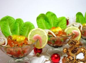 "Салат ""Коктейль с морепродуктами"" - фото шаг 4"