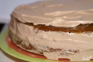 Шоколадно-сырный торт - фото шаг 5