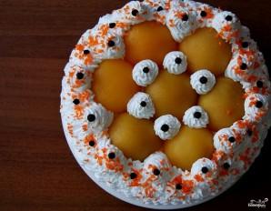 Торт с консервированными персиками - фото шаг 6