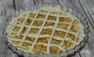 Пирог из дрожжевого теста с яблоками - фото шаг 5