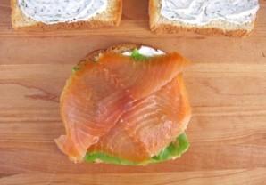Сэндвич с семгой  - фото шаг 3