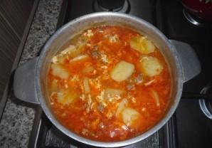Суп с фаршем и яйцом - фото шаг 8