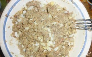 Пирог с рыбной консервой - фото шаг 1