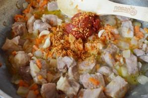 Плов на сковороде со свининой - фото шаг 7