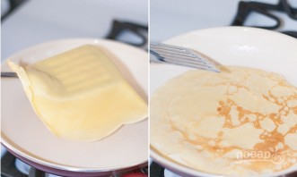 Блинчики тонкие на молоке - фото шаг 5