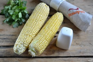 Кукуруза, запеченная в фольге на мангале - фото шаг 1