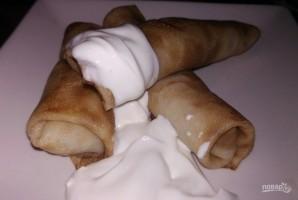 Блины на молоке с мясом - фото шаг 9