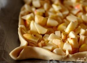 Открытый яблочный пирог из слоеного теста - фото шаг 2