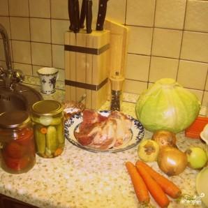 Солянка из свежей капусты - фото шаг 1