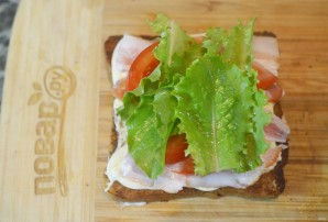 Бутерброд с беконом - фото шаг 5