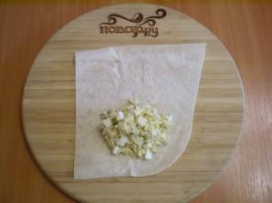 Лаваш с рисом и яйцом - фото шаг 8