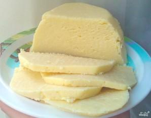 Домашний сыр из кефира и молока - фото шаг 5
