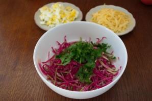 Салат с сыром и овощами - фото шаг 2