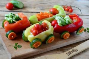 "Нарезка ""Овощной поезд"" - фото шаг 4"