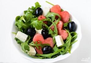 Салат с арбузом и брынзой - фото шаг 7