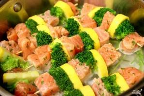 Шашлычки из лосося на шпажках - фото шаг 4