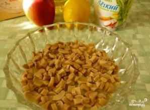 Салат с маринованными шампиньонами - фото шаг 3