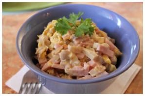 Салат с колбасой простой - фото шаг 4