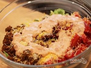 Салат с мясом и фасолью - фото шаг 5