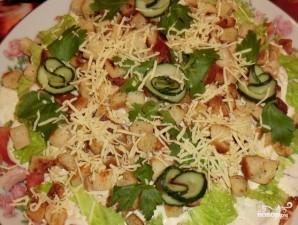 Салат с копченой курицей и сыром - фото шаг 6