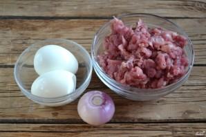 Мясной рулет с яйцом в духовке - фото шаг 1