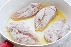 Куриная грудка в сливочно-горчичном соусе - фото шаг 3