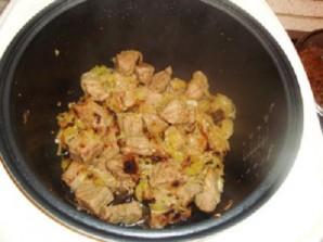 Тушеное мясо в мультиварке - фото шаг 4