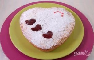 Сладкий пирог на День Святого Валентина - фото шаг 13