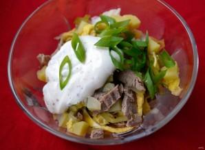 Салат с мясом говядины - фото шаг 8