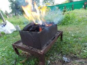 Карп на углях в фольге - фото шаг 4